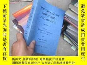 二手書博民逛書店handbooks罕見of monetary economics