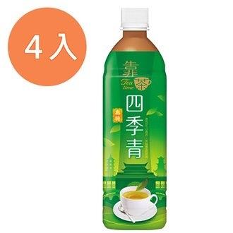 波蜜靠茶四季青茶580ml(4入)/組【康鄰超市】
