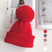 復古純色毛球針織兩用帽子脖圍 復古 純色 毛球 針織 兩用 帽子 脖圍