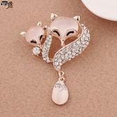 時尚韓國珍珠胸針女別針 可愛復古胸花胸針配飾絲巾扣毛大衣領扣  易貨居