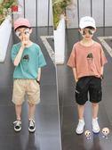 男童短袖 男童短袖t恤2019新款夏裝中大童棉質韓版兒童白色上衣體恤童裝潮8 5色
