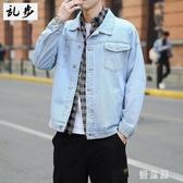 日系牛仔外套 男士寬鬆潮流工裝夾克男裝學生休閒百搭上衣服潮 BT21629『優童屋』