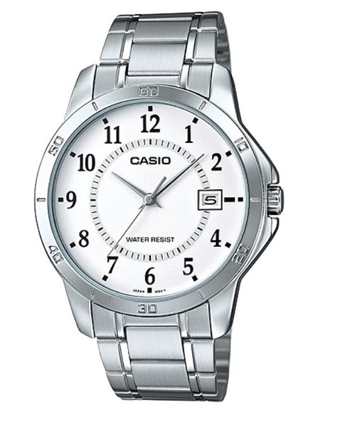 【CASIO宏崑時計】CASIO卡西歐不鏽鋼指針錶 MTP-V004D-7B 生活防水 台灣卡西歐保固一年
