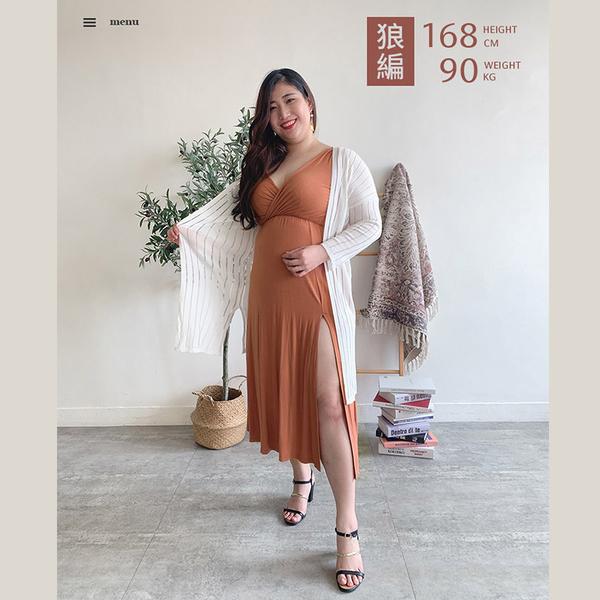 限量現貨◆PUFII-洋裝 側開衩V領背心長洋裝- 0521 現+預 夏【CP18588】