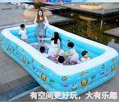 兒童游泳池 兒童游泳池充氣家庭嬰兒游泳桶成人家用寶寶加厚小孩超大號洗澡池igo 歐萊爾藝術館