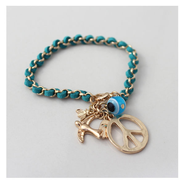 star 海洋系列 - 歐美反戰小鳥法蒂瑪之手 手鏈-C69