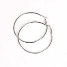 316L醫療鋼 素面極細 大耳圈耳環-50mm、60mm 防抗過敏