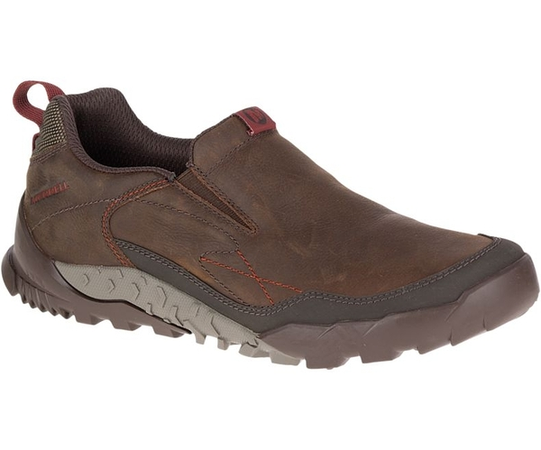 MERRELL 男款 ANNEX TRAK MOC Vibram黃金大底 郊山健行鞋 懶人鞋 - 咖啡 ML91813