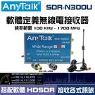 AnyTalk SDR-N300U 軟體定義無線電接收器 100kHz-1700MHz SDR HDSDR 贈 天線 轉接頭