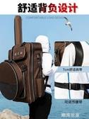 漁具包魚竿包多功能釣魚包雙肩背包釣椅包加厚魚包收納防水魚具包MBS『潮流世家』