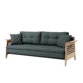 沙发床顾全多功能可折叠双人坐卧两用北欧客厅小户型实木沙发床1.8米  交換禮物DF