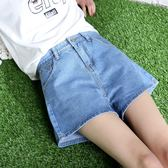 褲子 薄款破洞牛仔短褲女夏新款韓版高腰顯瘦a字褲子寬鬆闊腿熱褲 艾維朵