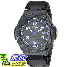 [美國直購] 手錶 Casio Mens MRW-S300HB-8BVCF Tough Solar Watch With Black Nylon Band