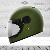 [安信騎士] THH TT01 素色 平光橄欖綠 輕量化 全罩 安全帽 復古 樂高帽 透氣佳 雙D扣 內襯全可拆
