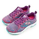 LIKA夢 LOTTO 專業風動輕量慢跑鞋 疾風編織系列 桃藍紫 6297 女