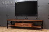 【德泰傢俱工廠】格萊斯 積層木工業風 6尺電視櫃 B001-707-A