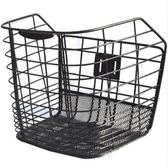 電動車籃子折疊自行車筐山地車框單車前筐金屬配件帶蓋加粗鐵通用 DF 星河