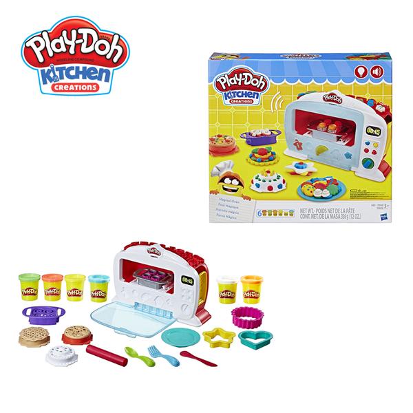 【買就送4色組補充罐】Play-Doh培樂多-廚房系列-神奇烤箱組