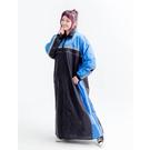 【東門城】JAP YW-M5 登風造極 側開式雨衣(黑藍) 隱藏式鞋套