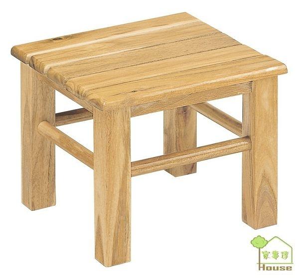 [ 家事達] TMT 品特實木五板低椅 (TAR-OC-08) x3
