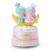 〔小禮堂〕雙子星 造型陶瓷音樂擺飾《粉黃》家飾.星星皇冠系列 4901610-00238