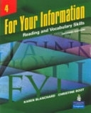 二手書博民逛書店 《For Your Information: Reading and Vocabulary Skills》 R2Y ISBN:0132436949│Allyn & Bacon