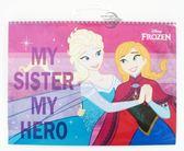 【金玉堂文具】Disney 迪士尼 Frozen 冰雪奇緣 Elsa & Anna 手提線圈素描本 FRSK150-1