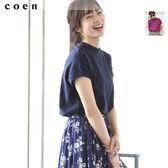 高領 棉麻上衣 素色T恤 美國棉 日本品牌【coen】