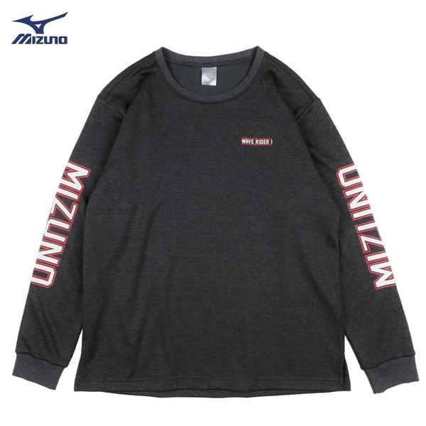 MIZUNO 男裝 長袖 T恤 運動 休閒 舒適 1906 復古 黑【運動世界】D2TA850209