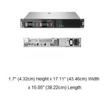 HP DL20 Gen10 3.5吋非熱抽伺服器(P06961-B21)【Intel Xeon E-2124 / 8G記憶體*1 / NO HDD / 內建S100i / DVD】