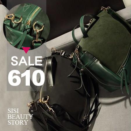 SISI【B4010】歐美復古時尚磨砂手提包/單肩包/跨斜包/機車包/女包/