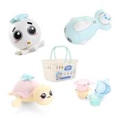 寶寶兒童洗澡玩具戲水游泳嬰兒玩具小烏龜玩沙沐浴噴水海豚疊疊樂 金曼麗莎