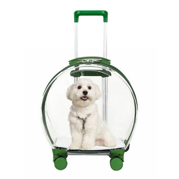 泡泡箱貓包拉桿箱貓咪外出便攜透明寵物狗行李箱透氣太空艙大容量
