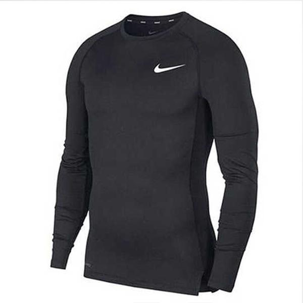 NIKE服飾系列-NP TOP LS TIGHT 男款黑色長袖運動訓練緊身上衣-NO.BV5589010