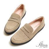 專櫃女鞋 麂皮車線休閒牛津鞋-艾莉莎Alisa【2161617】灰色下單區
