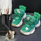 運動鞋 網紅女運動鞋子2021年春季新款韓版百搭鬆糕厚底老爹鞋ins潮 8號店