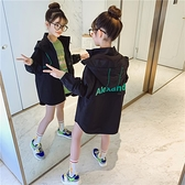 童裝女童秋裝外套2020新款兒童春秋韓版風衣女大童中長款洋氣上衣