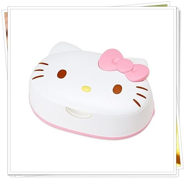 KITTY 造型盒+濕紙巾 1包80枚入 日本製  奶爸商城 通販 482302