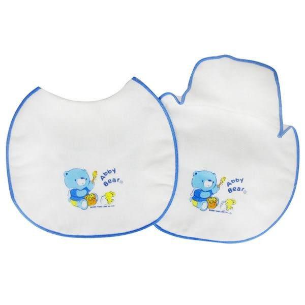 【奇買親子購物網】艾比熊紗布餵奶兜(2入)
