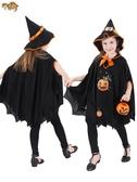 萬聖節兒童服裝女巫吸血鬼COS巫師斗篷披風男童巫婆公主裙女衣服QM『小淇嚴選』