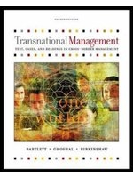 二手書《Transnational Management: Text, Cases, and Readings in Cross-Border Management》 R2Y ISBN:0071232281