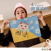 《ZB0808》萌寵招財貓咪可愛實用防刮棉麻餐墊/隔熱墊 OrangeBear