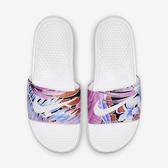 Nike WMNS Benassi JDI Print [618919-113] 女鞋 拖鞋 涼鞋 雨天 海邊 白紅