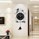 鐘錶掛鐘客廳靜音個性家用小鳥時鐘創意現代裝飾大氣臥室時尚掛錶