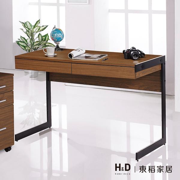 歐菲4尺胡桃色二抽書桌(18JF/383-1)【DD House】