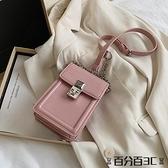 手機包 上新質感女士小包包2021夏季新款潮時尚小方包簡約百搭斜挎手機包 百分百