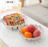 新運隆歐式塑料鏤空水果盤創意家用客廳現代簡約水果盆茶幾水果籃【櫻花本鋪】