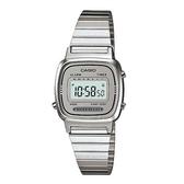 CASIO 時尚質感優雅不鏽鋼電子腕錶-灰面(LA-670WA-7)