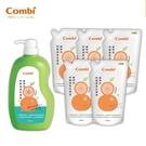 康貝 Combi 植物性奶瓶蔬果洗潔液 箱購組合 (1000ml罐裝x1+800ml補充包x5)