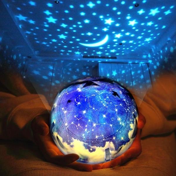 星空投影燈 浪漫旋轉星空燈投影儀臥室夢幻創意小夜燈滿天星星兒童睡眠【快速出貨八折下殺】